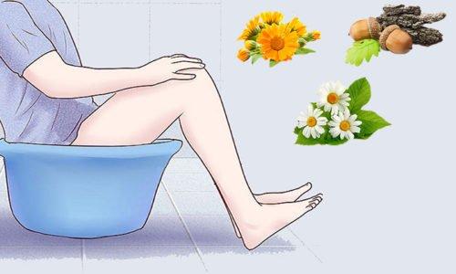 сидячая ванночка от геморроя с ромашкой дубовой корой, календулой